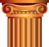 Ilustración de capital superior de la columna Imágenes de archivo libres de regalías