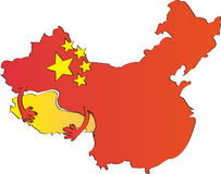 Ilustración de China Imagen de archivo