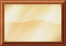 Ilustración de cobre amarillo de la placa Fotografía de archivo