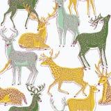 Ilustración de color de ciervos ilustración del vector