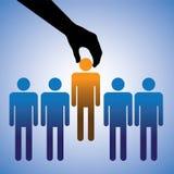 ilustración de contratar al mejor candidato libre illustration