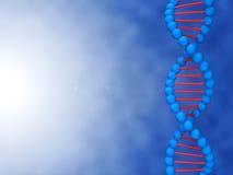 Ilustración de Digitaces de una DNA con el lugar para su Foto de archivo libre de regalías