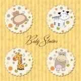 Ilustración de diversos items de los juguetes para el bebé Foto de archivo libre de regalías