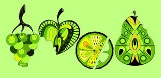 Ilustración de frutas Stock de ilustración