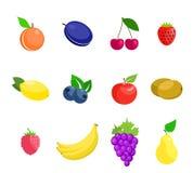 Ilustración de frutas Fotos de archivo