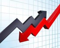 Ilustración de ganancias y pérdidas ilustración del vector