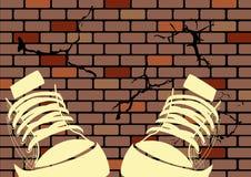 Ilustración de Grunge de una pared resistida libre illustration