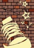 Ilustración de Grunge de una pared resistida Imagen de archivo libre de regalías