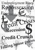Ilustración de Grunge en tema de la recesión Foto de archivo libre de regalías