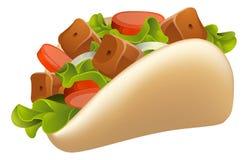 Ilustración de Kebab Fotografía de archivo libre de regalías