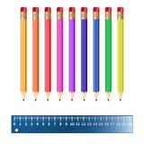 Ilustración de lápices coloreados Libre Illustration