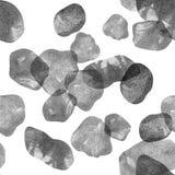 Ilustración de la acuarela Modelo de las piedras transparentes de sombras grises Fotos de archivo libres de regalías