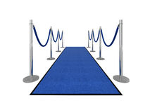 Ilustración de la alfombra del VIP - vista delantera Fotografía de archivo