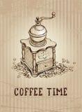 Ilustración de la amoladora de café Imagen de archivo libre de regalías