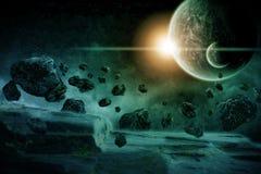 Ilustración de la apocalipsis de Eart del planeta ilustración del vector