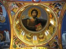 Ilustración de la bóveda principal de la iglesia Foto de archivo