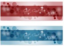 Ilustración de la bandera de la tarjeta del Vector-Regalo Fotos de archivo
