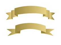 Ilustración de la bandera del oro Imagenes de archivo