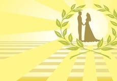 Ilustración de la boda. Foto de archivo