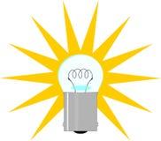 Ilustración de la bombilla Imagen de archivo libre de regalías