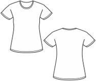 Ilustración de la camiseta de las mujeres Imagen de archivo