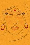 Ilustración de la cara de la señora Ilustración del Vector