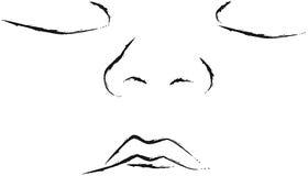 Ilustración de la cara del bebé Fotografía de archivo libre de regalías