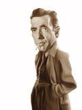 Ilustración de la caricatura de Humphrey Bogart Imagen de archivo