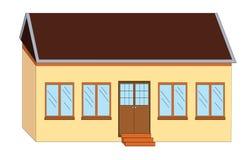 Ilustración de la casa de la escuela libre illustration