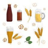 Ilustración de la cerveza ilustración del vector