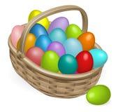 Ilustración de la cesta de los huevos de Pascua Imagen de archivo