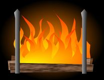 Ilustración de la chimenea Imagen de archivo