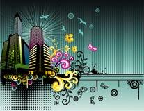 Ilustración de la ciudad de la fantasía del vector Fotos de archivo libres de regalías