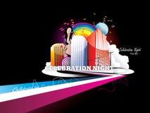 Ilustración de la ciudad del color ilustración del vector
