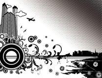 Ilustración de la ciudad del vector Fotografía de archivo libre de regalías