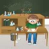 Ilustración de la clase de química del vector Imagenes de archivo