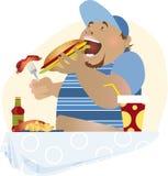 Ilustración de la comida campestre del Cookout Fotos de archivo