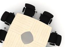 Ilustración de la conferencia Table-3d Imagen de archivo libre de regalías