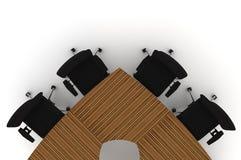 Ilustración de la conferencia Table-3d Stock de ilustración