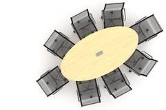 Ilustración de la conferencia Table-3d Imágenes de archivo libres de regalías