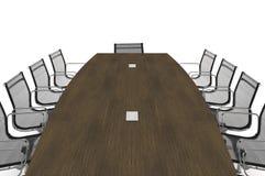 Ilustración de la conferencia Table-3d Fotografía de archivo