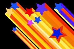 Ilustración de la estrella fugaz Fotografía de archivo libre de regalías