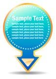 Ilustración de la etiqueta engomada stock de ilustración