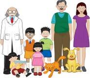 Ilustración de la familia Fotos de archivo