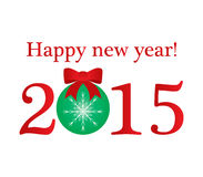 Ilustración de la Feliz Año Nuevo Imagen de archivo libre de regalías