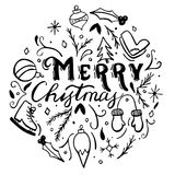 Ilustración de la Feliz Navidad Fotografía de archivo libre de regalías