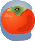 Ilustración de la fruta del caqui Imagenes de archivo