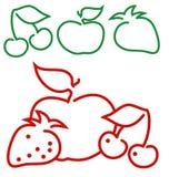 Ilustración de la fruta, modelo Fotos de archivo