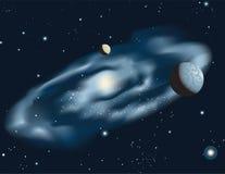 Ilustración de la galaxia espiral Imagenes de archivo