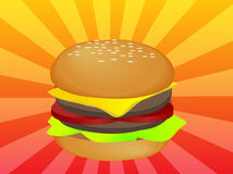 Ilustración de la hamburguesa Imagenes de archivo